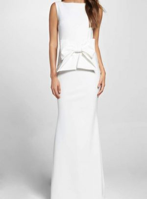 Bow Detail Sleeveless Gown