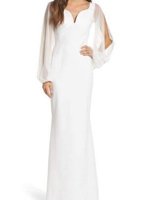 Dress Cutwork Back Gown