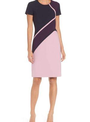 Dukatia Colorblock Sheath Dress