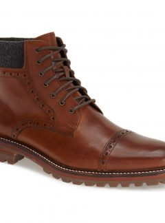'Karnes' Brogue Cap Toe Boot