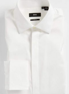 'Marlyn' Sharp Fit Stripe French Cuff Tuxedo Shirt