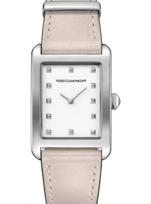 Moment Leather Strap Watch, 27mm x 39mm