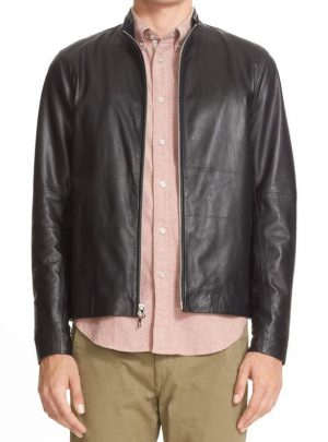 Agnes Lambskin Leather Jacket