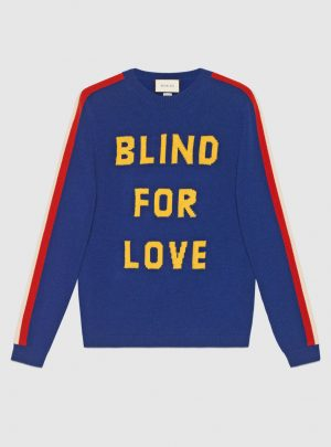 """Blind for Love"" and tiger wool sweater"