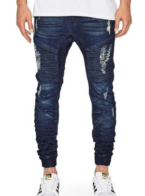 Destroyer Moto Denim Jogger Pants