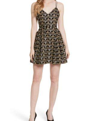 Marilla Embroidered Strappy Dress