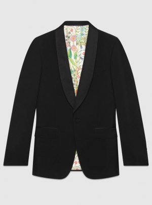 Signoria wool jacket with embroidery